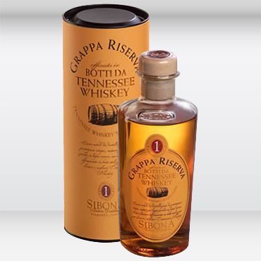 Grappa affinata in botti Tennessee Sibona