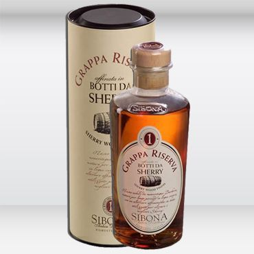 Grappa di Barbera affinata in botti Sherry Sibona